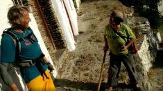 Jesús Calleja en la Alpujarra granadina rodando 'Volando voy'