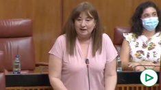La portavoz de igualdad del PSOE llama «cortita» a una diputada del PP en el Parlamento de Andalucía.