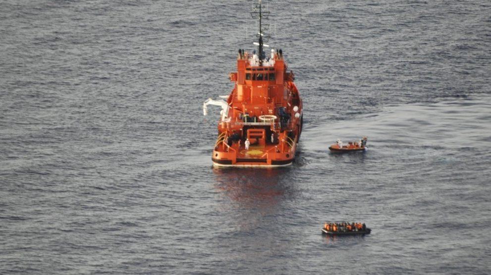 Imagen de archivo del rescate de varias pateras.