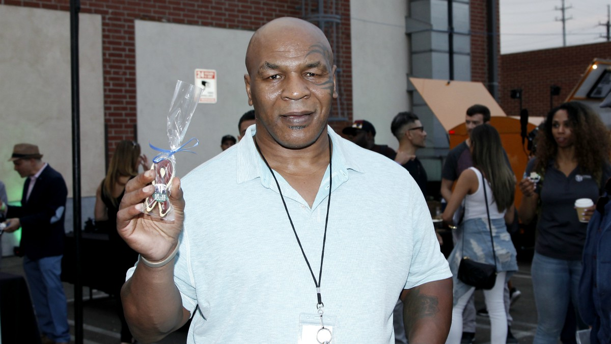 Mike Tyson, en una aparición pública. (Getty)
