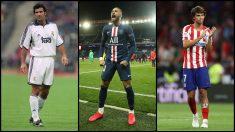 Figo, Neymar y Joao Félix, tres fichajes galácticos. (Getty)