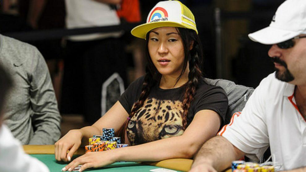 Susie Zhao, en una partida de póker.