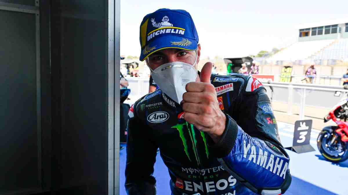 Maverick Viñales, en el Gran Premio de Andalucía. (EFE)
