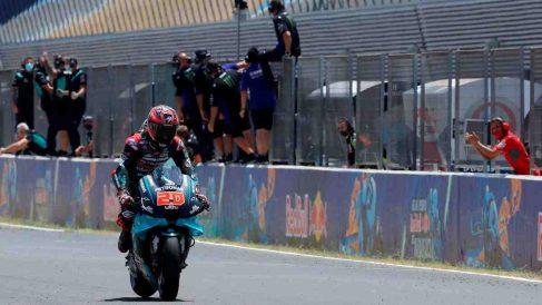 Fabio Quartararo, durante el Gran Premio de Andalucía. (EFE)