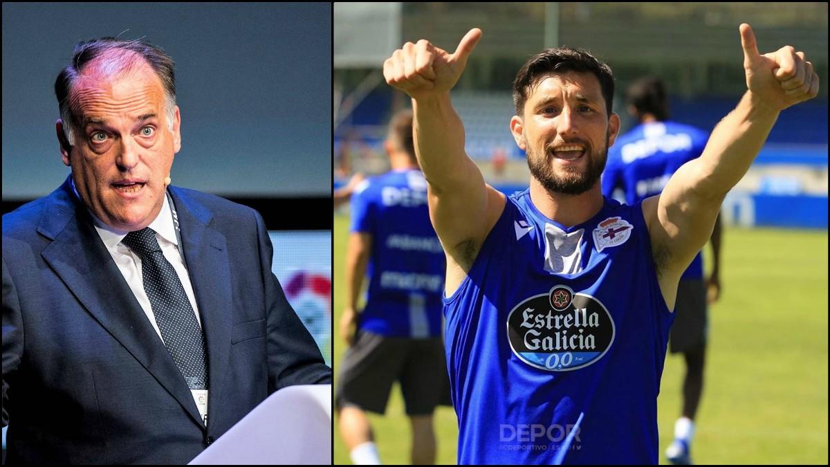 Javier Tebas y Borja Valle.