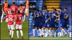 El United y el Chelsea lograron su pase a la Champions en la última jornada de la Premier. (Getty)