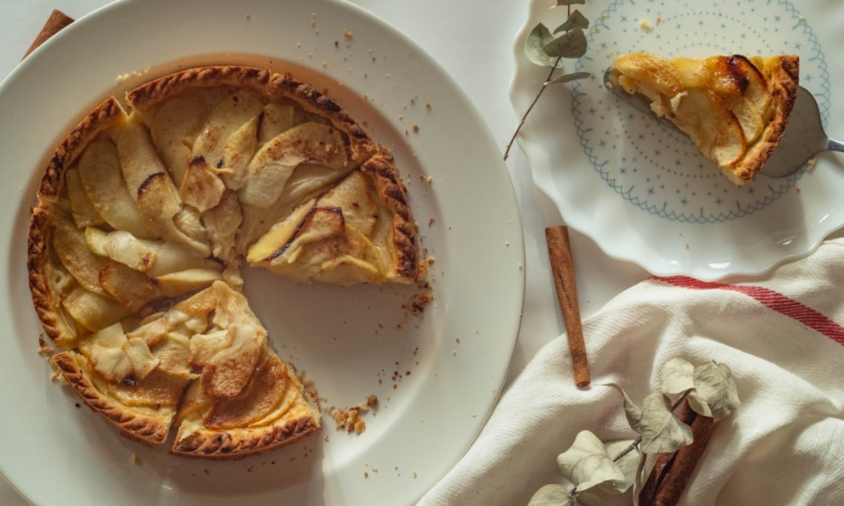 Torta de manzana sin harina ni horno