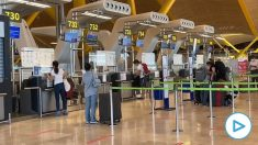 Mostradores de facturación en el aeropuerto de Barajas.