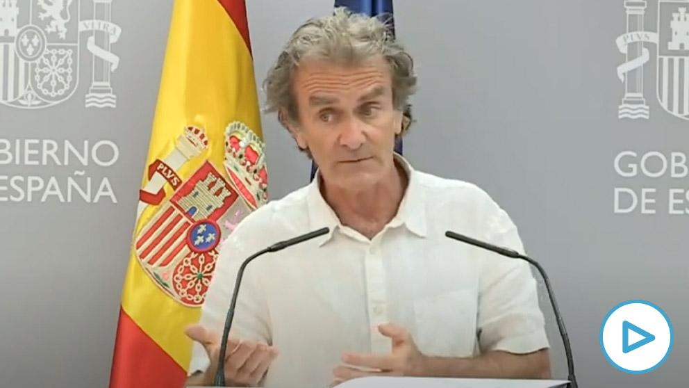 Fernando Simón, en rueda de prensa, este lunes.