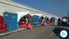 Campamento de Cruz Roja en el puerto de Escombreras (Murcia). (Vídeo: Jucil)