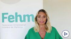 La presidenta de la Federación Empresarial Hotelera de Mallorca (FEHM), María Frontera
