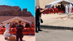 Policías sin protección en el puerto de Escombreras, Murcia. (Fotos: CEP)