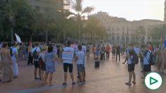 Manifestación en Málaga para reivindicar el derecho a no usar mascarilla. Fuente: Twitter de @nat0ly