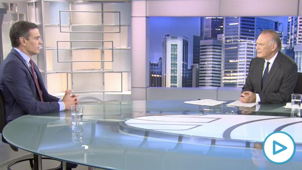 Sánchez, esta noche, en el plató de Informativos Telecinco