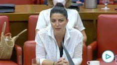 Macarena Olona (Vox), en el Congreso.