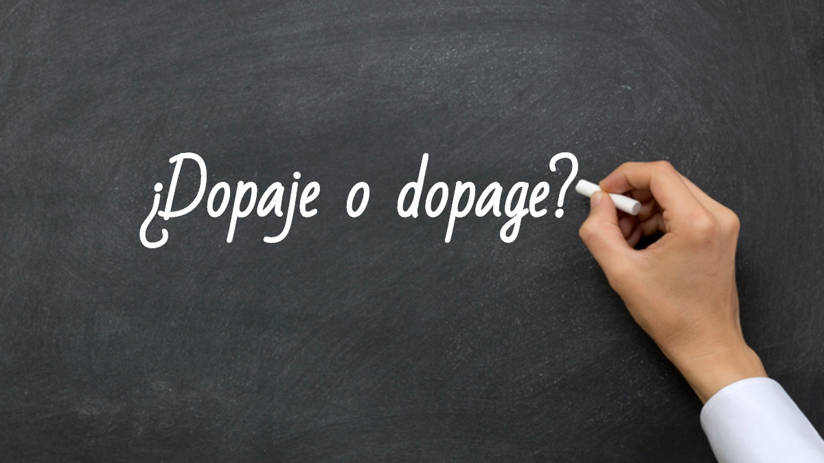 Se escribe dopaje o dopage