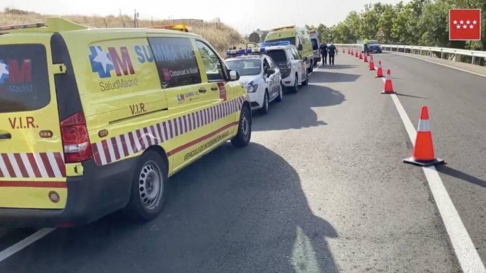 Servicios de Emergencias en El Álamo. (Foto: Emergencias Madrid)