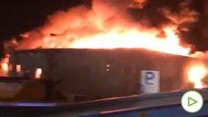 Incendio de una nave en Granollers
