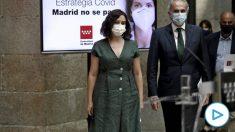 La presidenta de la Comunidad de Madrid, Isabel Díaz Ayuso, y el consejero de Sanidad, Enrique Ruiz Escudero. (Ep)