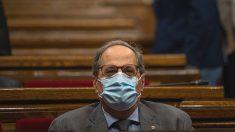 El presidente de la Generalitat, Quim Torra, durante un Pleno de control al Gobierno de la Generalitat (Foto: Europa Press).