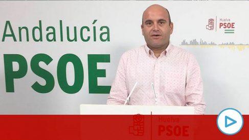 El ya ex el portavoz del PSOE cartayero, Alexis Landero.