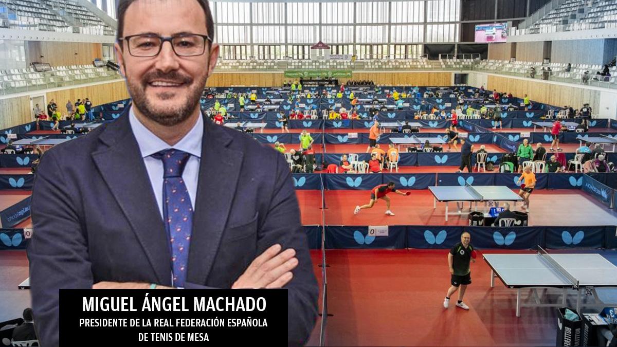 Miguel Ángel Mellado, presidente de la Federación de Tenis de Mesa