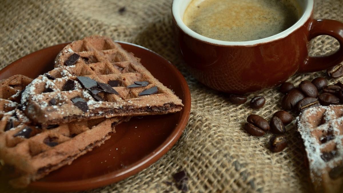 Gofre de café con chocolate