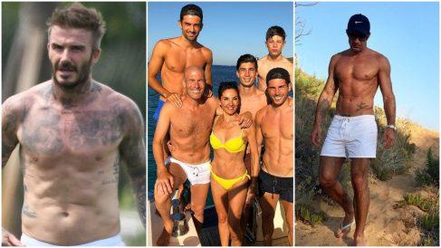 Beckham, Zidane y Figo, tres de los que se mantienen en forma.