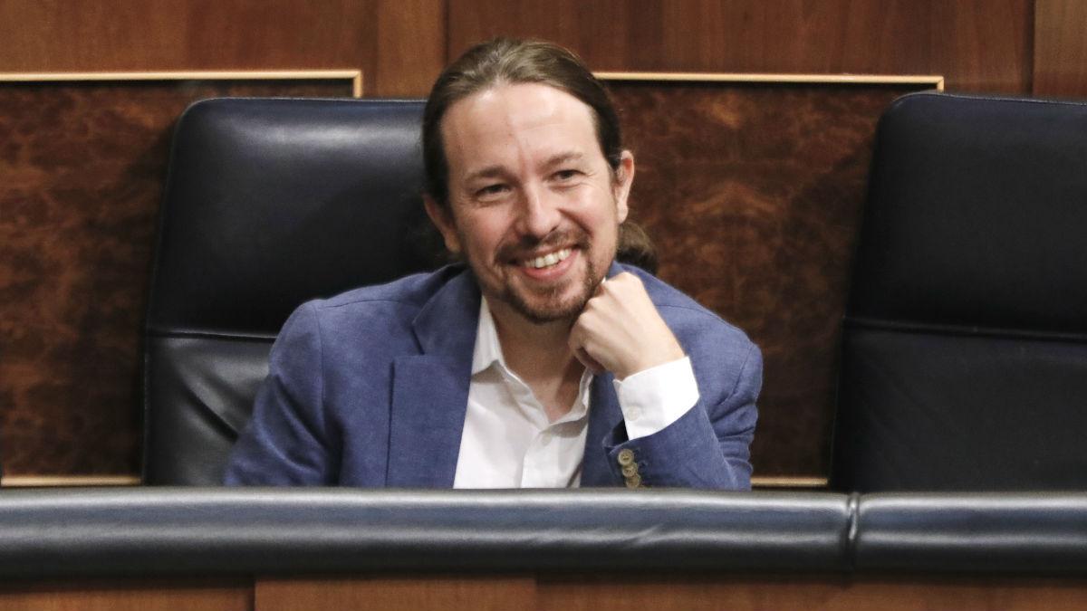 El líder de Podemos, Pablo Iglesias, en el Congreso. (Foto: Europa Press)