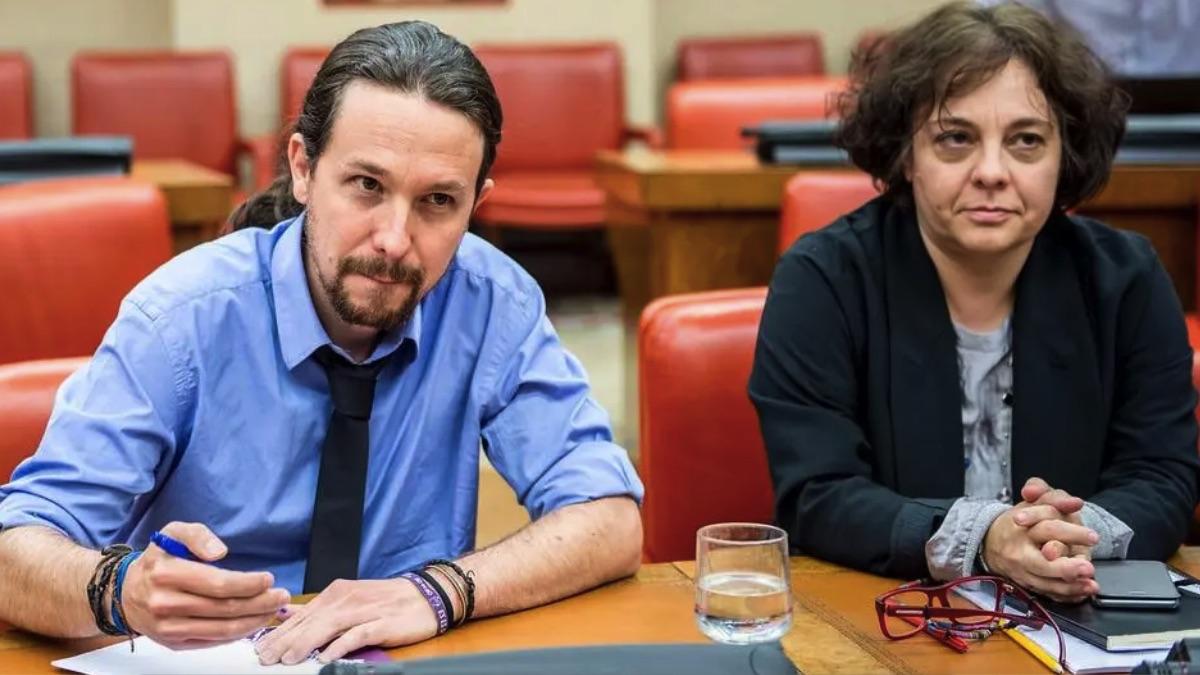 Pablo Iglesias y Gloria Elizo. (Foto: Podemos)