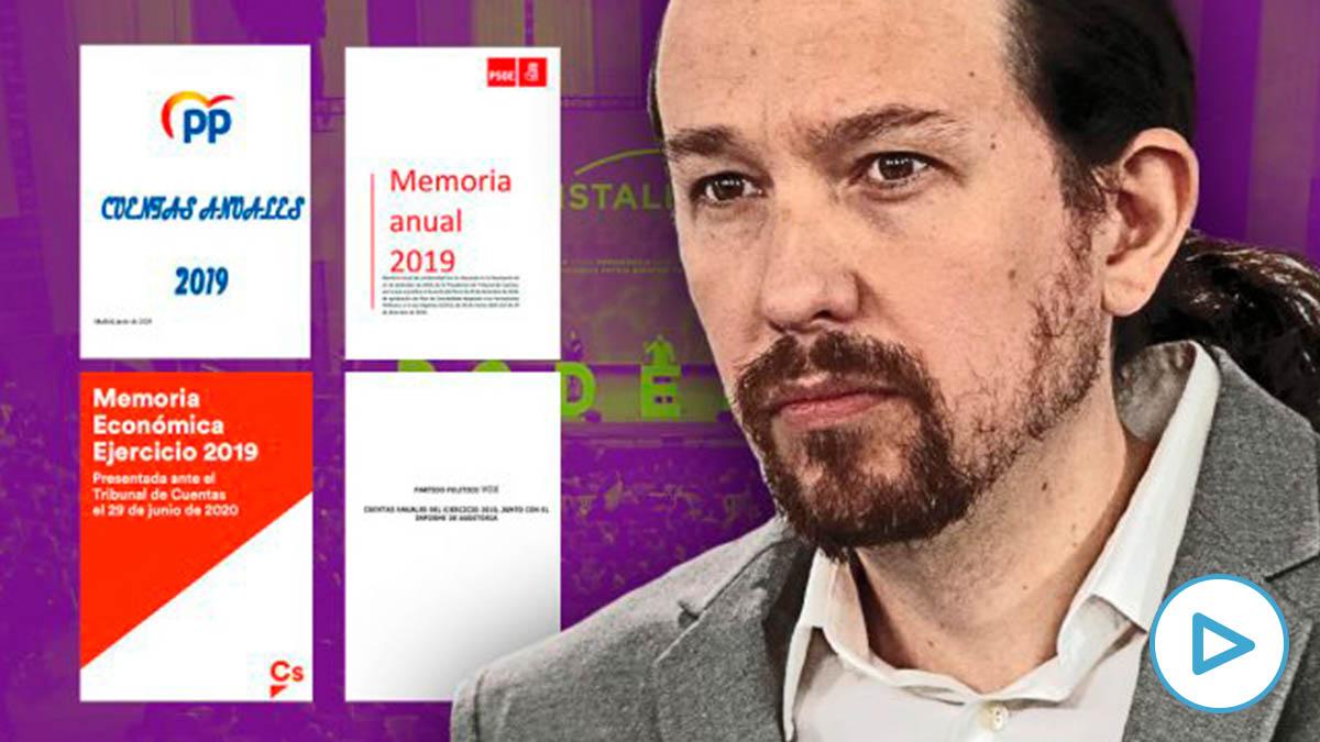 Pablo Iglesias y las cuentas publicadas del resto de partidos.