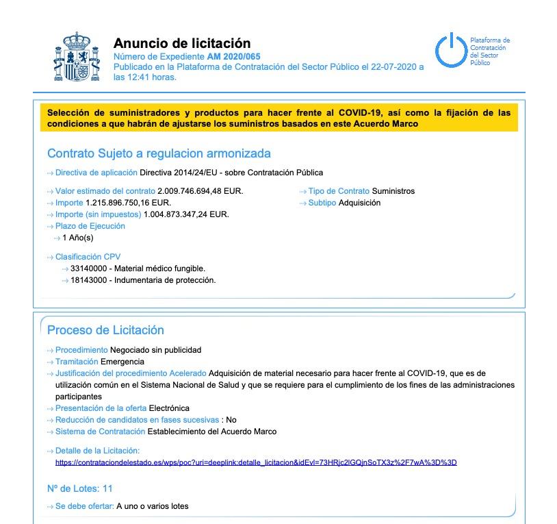 El megacontrato de 2.009 millones para la reserva anticovid de Sánchez deja fuera a las empresas españolas