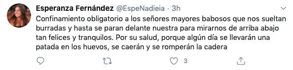 """La jefa de prensa de Adelante Andalucía a los """"señores mayores babosos"""": """"Que se rompan la cadera""""."""