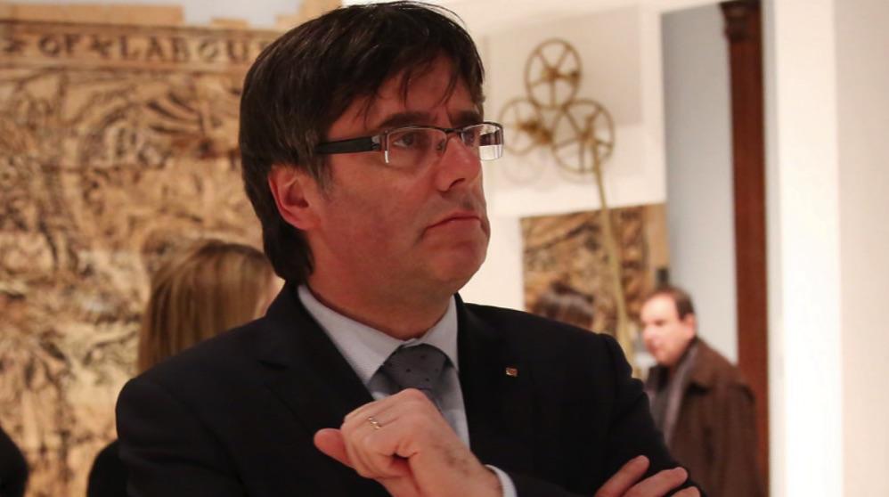 Carles Puigdemont, en una visita. (Foto. Flickr)