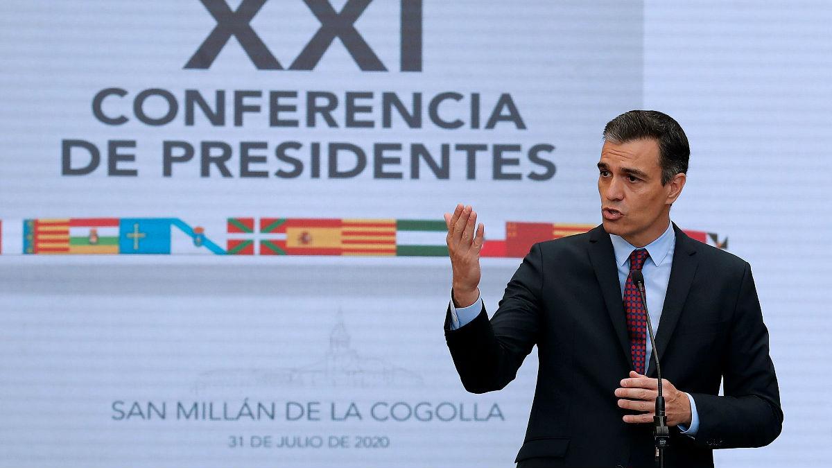 El presidente del Gobierno, Pedro Sánchez, en la Conferencia de Presidentes. (Foto: Efe)