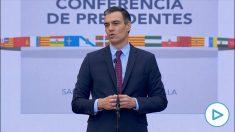 Pedro Sánchez, este viernes, en la Conferencia de Presidentes.