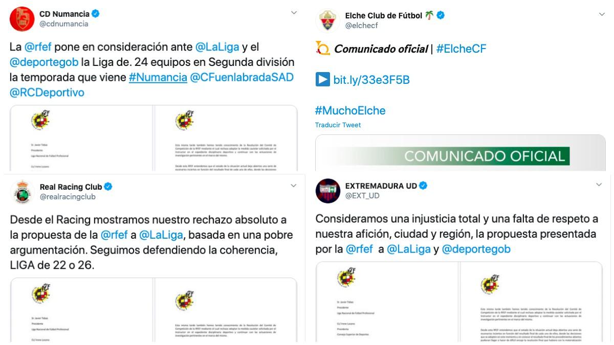 Así han reaccionado los clubes de Segunda al terremoto de una Segunda de 24 equipos