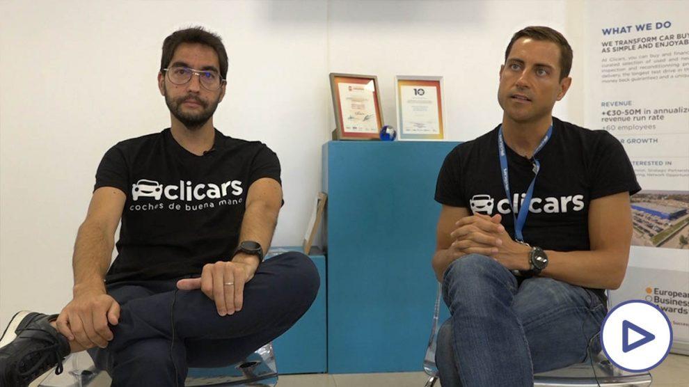 Carlos Rivera y Pablo Fernández, fundadores de Clicars.