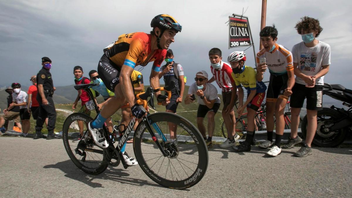 Mikel Landa durante la Vuelta a Burgos. (EFE)