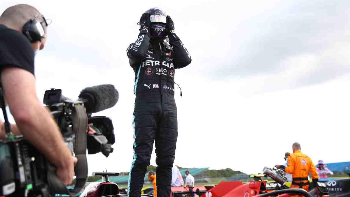 Lewis Hamilton gana el Gran Premio de Gran Bretaña. (AFP)