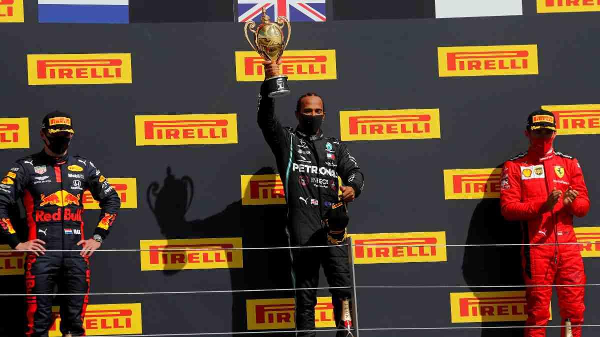 Hamilton gana el Gran Premio de Gran Bretaña. (AFP)