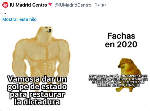 IU insinúa que los andaluces no «dan palo al agua» en un tuit donde se reía de Carrero Blanco que luego ha borrado