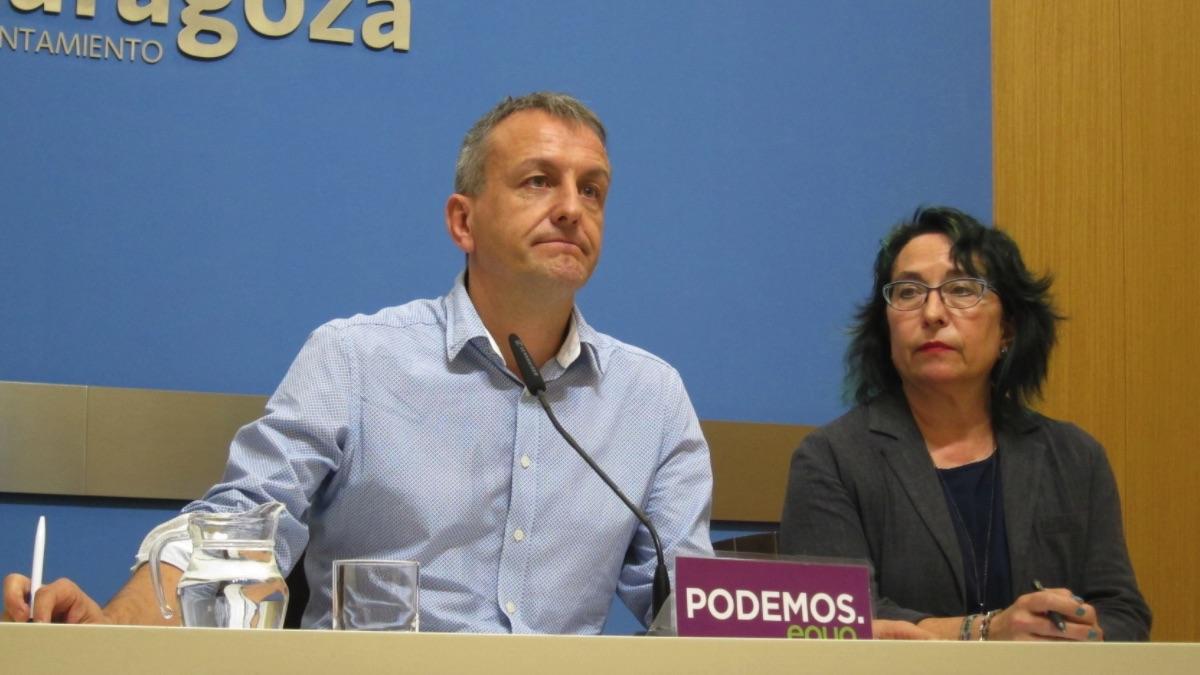 Fernando Rivarés, portavoz de Podemos Aragón. (Foto: EP)