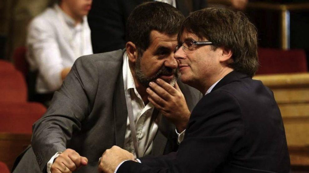 Jordi Sánchez y Carles Puigdemont en imagen de archivo.