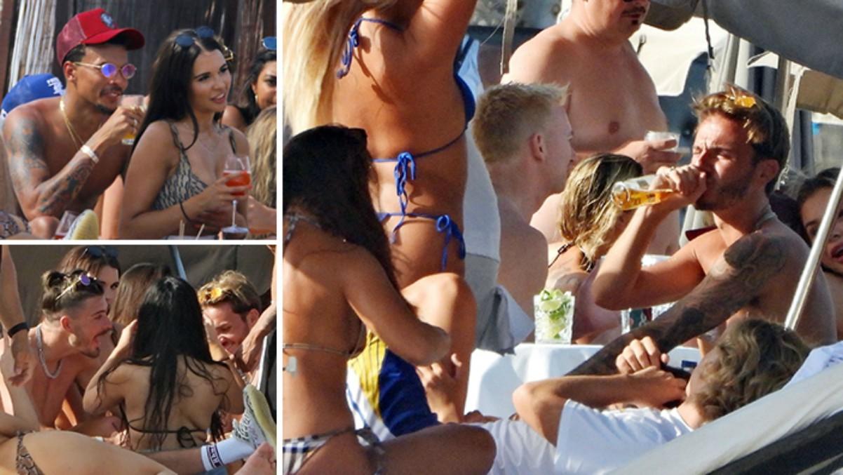Varios jugadores de fiesta en Ibiza (The Sun).