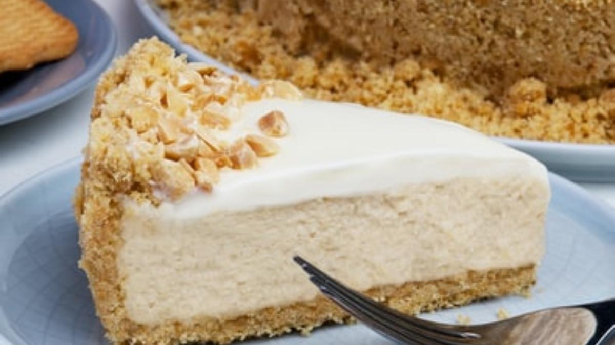 Cheesecake de mantequilla de cacahuete sin horno