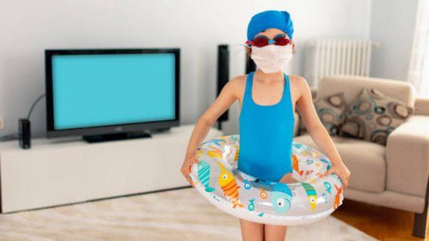 Cómo enseñar a que los niños utilicen la mascarilla a pesar del verano