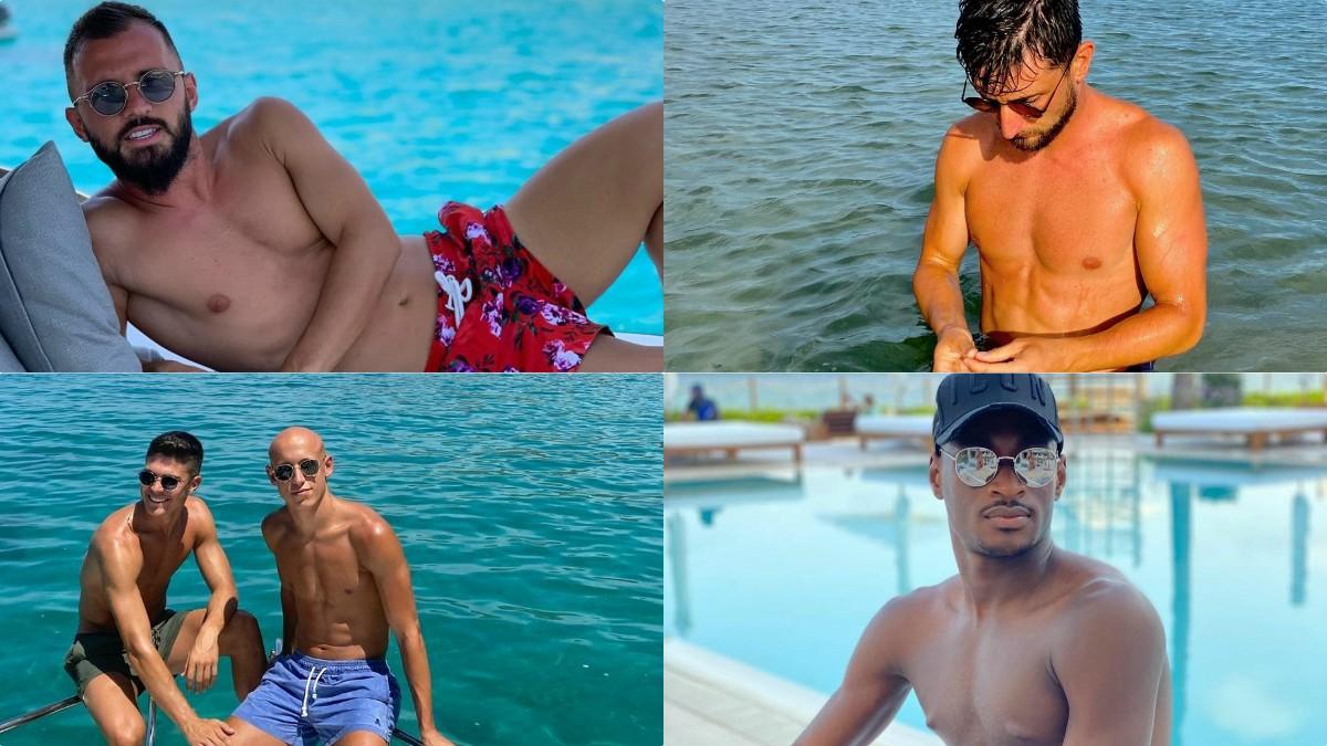 Los jugadores del Deportivo, de vacaciones. (Instagram)