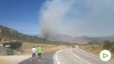 Imagen del incendio en Robledo de Chavela. Foto: EP