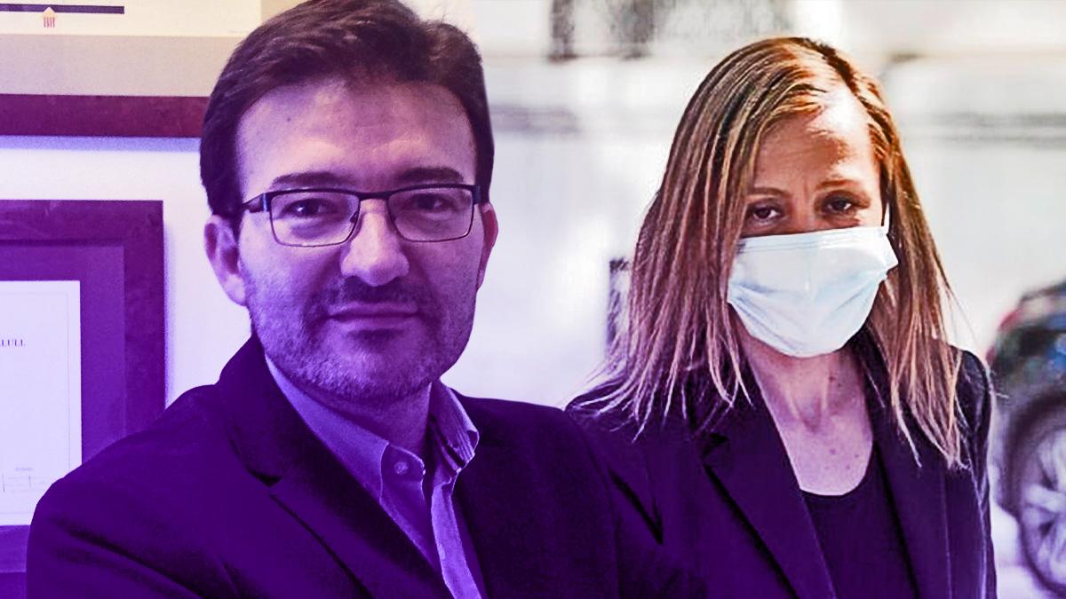 José Manuel Calvente (izquierda) y Marta Flor Núñez (derecha).